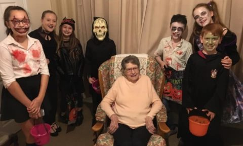 #youngfaNsclub 'Trick or Treating' Care Home Residents