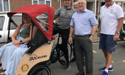 Corner Lodge Residents enjoy Trishaw Rides