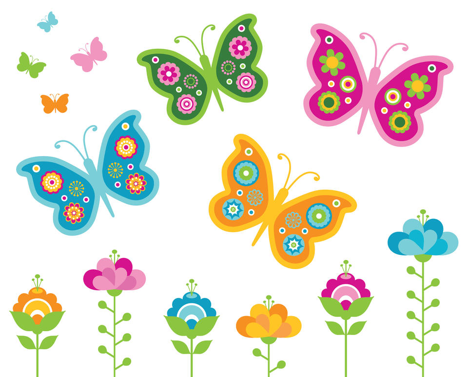 Butterflies my home life essex for Mural de flores y mariposas