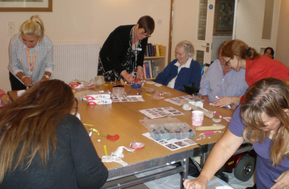 Essex Workforce Partnership run art classes for residents at nursing home