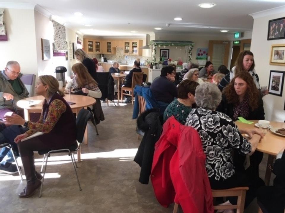 Foxburrow Grange dementia cafe with FaN pop up shop