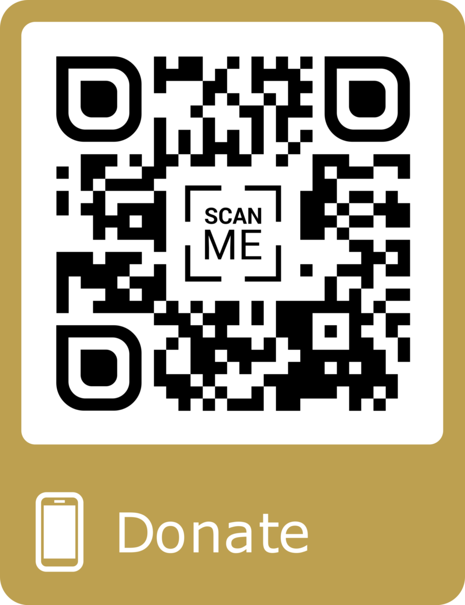 QR code to donate to us at Just Giving
