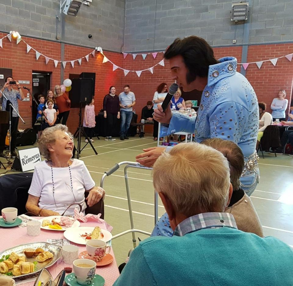 Elvis is in the building at the North Essex CCG Care Home party