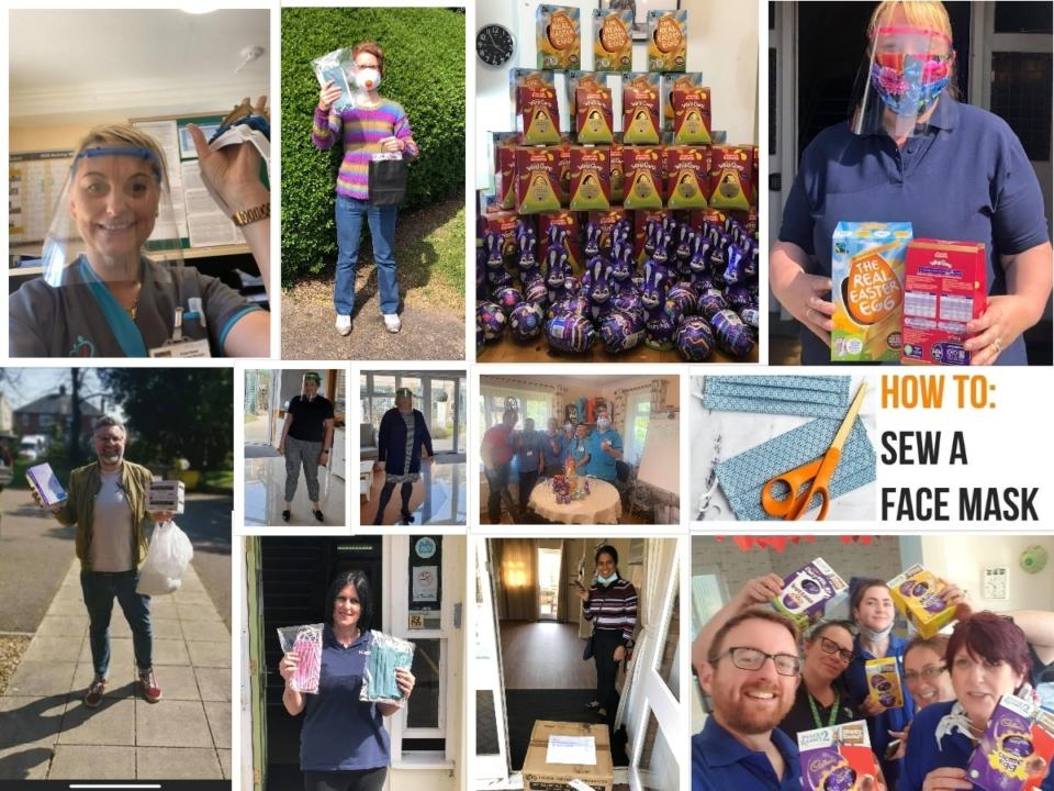 Delievery of Visors, Masks and Easter Eggs for hardworking Care Home staff