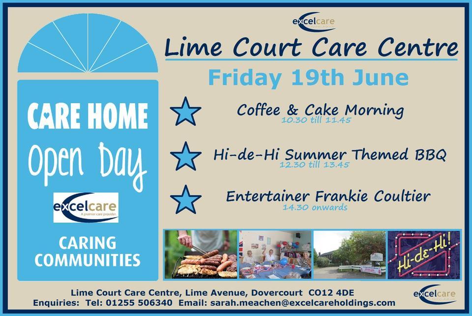 Lime Court Care Centre Dovercourt Open Day Invite