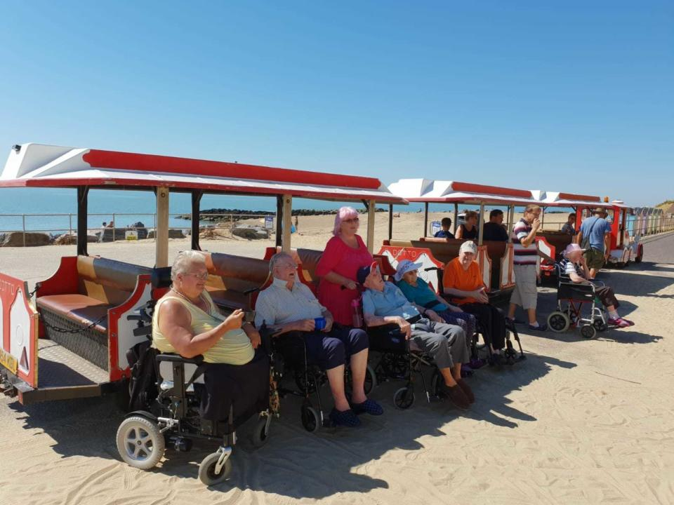 Residents out enjoying ice cream in Clacton