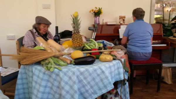 Alberto and pianist at St Dominics Harvest
