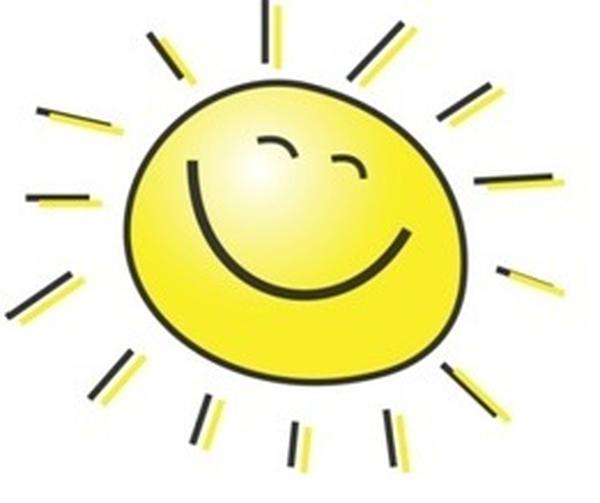 Picture of sun as emoticon to accompany Infectious blog entry