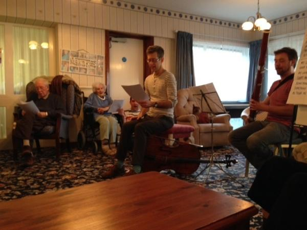 Sinfonia Viva rehearse residents at Well House Care Home