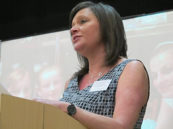 Lisa talking at conference March 2014