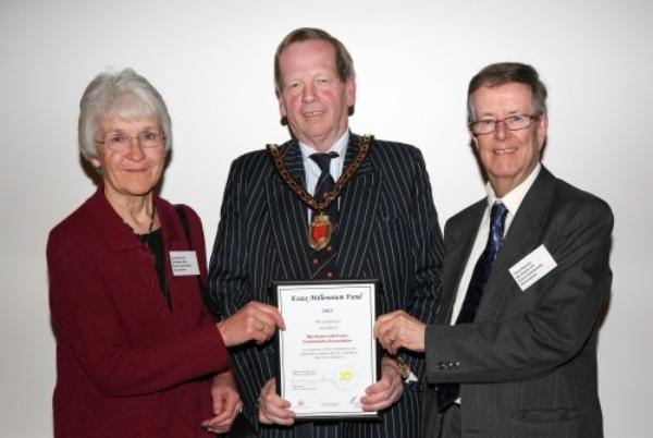 Presentation of award to Janet Russell and Chris Harvey